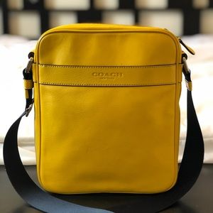 Coach Yellow Leather Flight Smith Shoulder Bag